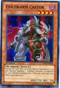 YuGiOh Zexal Hidden Arsenal 7: Knight of Stars Single Card Super Rare HA07-EN048 Evilswarm Castor