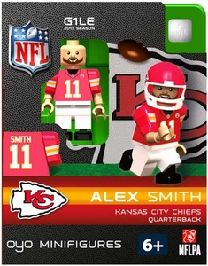 OYO Football NFL Building Brick Minifigure Alex Smith [Kansas City Chiefs]