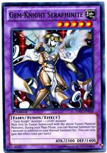 YuGiOh Zexal Hidden Arsenal 7: Knight of Stars Single Card Super Rare HA07-EN058 Gem-Knight Seraphinite