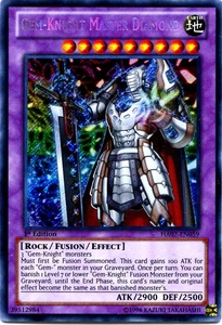 YuGiOh Zexal Hidden Arsenal 7: Knight of Stars Single Card Secret Rare HA07-EN059 Gem-Knight Master Diamond