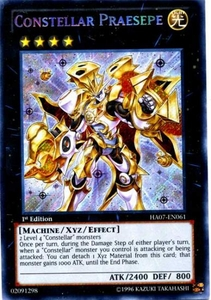 YuGiOh Zexal Hidden Arsenal 7: Knight of Stars Single Card Secret Rare HA07-EN061 Constellar Praesepe