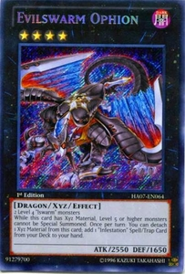 YuGiOh Zexal Hidden Arsenal 7: Knight of Stars Single Card Secret Rare HA07-EN064 Evilswarm Ophion