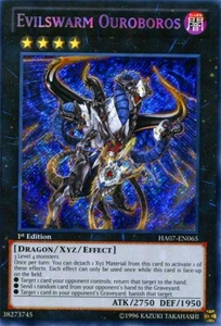 YuGiOh Zexal Hidden Arsenal 7: Knight of Stars Single Card Secret Rare HA07-EN065 Evilswarm Ouroboros