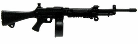 GI Joe 3 3/4 Inch LOOSE Action Figure Accessory Black Light Machine Gun with Drum Magazine