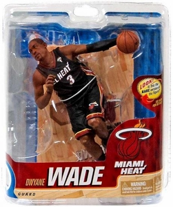 McFarlane Toys NBA Sports Picks Series 20 Action Figure Dwyane Wade (Miami Heat) El Heat Uniform Collector Level Only 500 Made!
