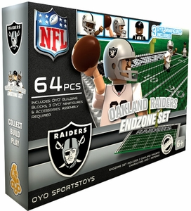 OYO Football NFL Generation 1 Team Field Endzone Set Oakland Raiders