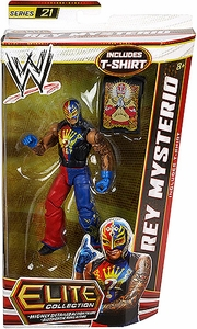 Mattel WWE Wrestling Elite Series 21 Action Figure Rey Mysterio [T-Shirt!]