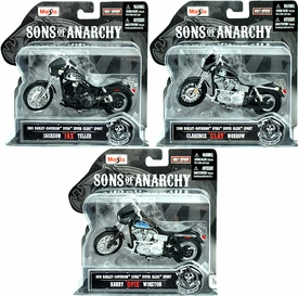 Sons of Anarchy Set of 3 Maisto 1:18 Die Cast Replica Bikes [Jax, Clay & Opie]
