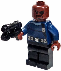 LEGO Marvel Super Heroes LOOSE Complete Mini Figure Nick Fury Agent of S.H.I.E.L.D.