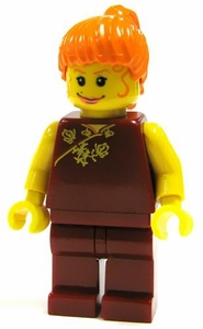 LEGO Spider-Man 2 LOOSE Mini Figure Mary Jane in Red Dress Yellow Flesh