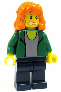 LEGO Spider-Man 2 LOOSE Mini Figure Mary Jane in Green Jacket