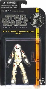 Star Wars Black 3.75 Inch Series 3 Action Figure Clone Commander Neyo