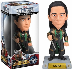 Funko Marvel Thor 2 Dark World Wacky Wobbler Bobble Head Loki