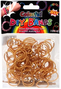 D.I.Y. Do it Yourself Bracelet Bands 100 Gold Rubber Bands with Hook Tool & Buckles MEGA Hot! BLOWOUT SALE!