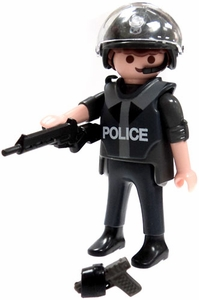 Playmobil Fi?ures Series 5 LOOSE Mini Figure Riot Police Officer