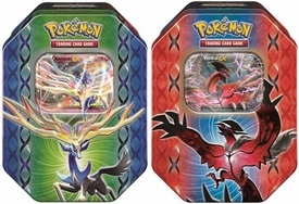 Pokemon XY Spring 2014 Set of Both Legends of Kalos Tins [Yveltal & Xerneas] New!