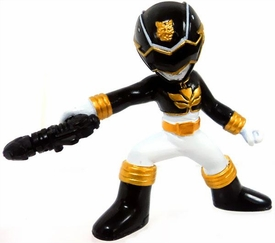 Power Rangers Megaforce Series 2 LOOSE Mini PVC Battle-Ready 2 Inch Figure Black Megaforce Ranger [Includes Card!]