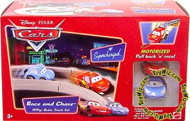Disney / Pixar CARS Movie Toy Race & Chase Willys Butte Track Playset with McQueen & Sally