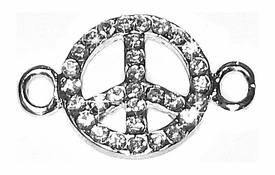 Undee Bandz Rubbzy Rhinestone Rubber Band Bracelet Charm Peace Sign