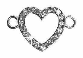 Undee Bandz Rubbzy Rhinestone Rubber Band Bracelet Charm Heart BLOWOUT SALE!