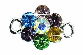 Undee Bandz Rubbzy Rhinestone Rubber Band Bracelet Charm Flower BLOWOUT SALE!