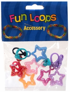 Fun Loops Rubber Band Bracelet Charm 6-Pack Stars