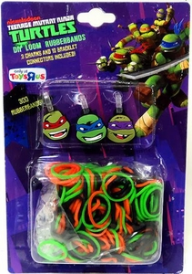 Nickelodeon Teenage Mutant Ninja Turtles Exclusive 300 Count DIY Loom Rubberbands,12 Conncectors & 3 Random Turtle Charms