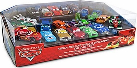Disney / Pixar CARS Movie Exclusive 1:48 Die Cast Car 22 Piece Set Mega Deluxe World of Racing Damaged Package, Mint Contents!