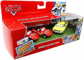 Disney / Pixar CARS Radiator Springs Classic Exclusive 1:55 Die Cast 3-Pack Dinoco 400 Race Fans [Mia, Tia & Jay W.]