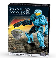 Halo Wars Mega Bloks LIMITED EDITION Magnetic Figure Set #29677 CYAN UNSC Spartan-II Only 5,000 Made!