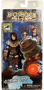 NECA Bioshock 2010 SDCC San Diego Comic-Con Exclusive Action Figure Big Sister Unmasked Eleanor Lamb with Little Sister