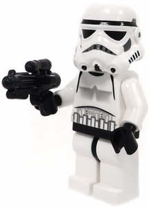 LEGO Star Wars LOOSE Mini Figure Stormtrooper with BrickArms E-11 Blaster