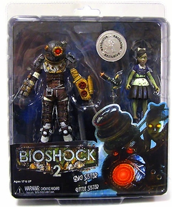 NECA Bioshock 2 Exclusive Ultra Deluxe Action Figure 2-Pack Big Sister & Little Sister