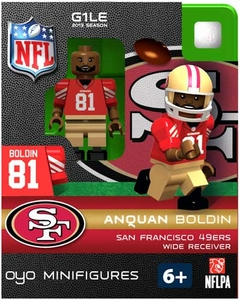 OYO Football NFL Building Brick Minifigure Anquan Boldin [San Francisco 49ers]