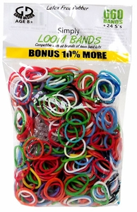 Simply Loom Bands 660 Multi-Colored Bands with 24 S-Clips