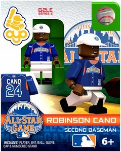 OYO Baseball MLB Generation 2 Building Brick Minifigure Robinson Cano [All-Star Game American League]