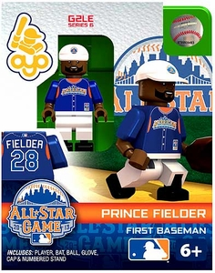 OYO Baseball MLB Generation 2 Building Brick Minifigure Prince Fielder [All-Star Game American League]