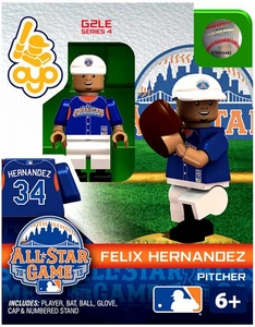 OYO Baseball MLB Generation 2 Building Brick Minifigure Felix Hernandez [All-Star Game American League]