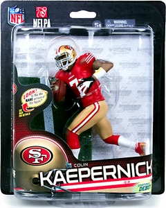 McFarlane Toys NFL Sports Picks Series 33 Action Figure Colin Kaepernick (San Francisco 49ers) Red Jersey