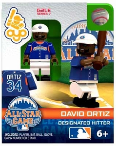 OYO Baseball MLB Generation 2 Building Brick Minifigure David Ortiz [All-Star Game American League]
