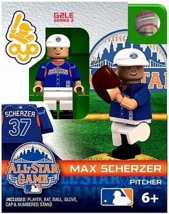 OYO Baseball MLB Generation 2 Building Brick Minifigure Max Scherzer [All-Star Game American League]