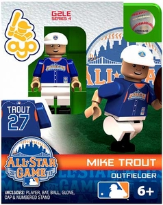 OYO Baseball MLB Generation 2 Building Brick Minifigure Mike Trout [All-Star Game American League]
