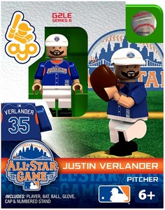 OYO Baseball MLB Generation 2 Building Brick Minifigure Justin Verlander [All-Star Game American League]