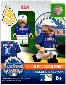 OYO Baseball MLB Generation 2 Building Brick Minifigure Ben Zobrist [All-Star Game American League]