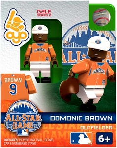 OYO Baseball MLB Generation 2 Building Brick Minifigure Domonic Brown [All-Star Game National League]