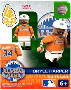 OYO Baseball MLB Generation 2 Building Brick Minifigure Bryce Harper [All-Star Game National League]