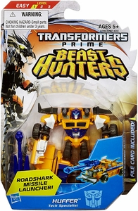 Transformers Prime Beast Hunters Commander Action Figure Huffer [Roadshark Missile Launcher!]