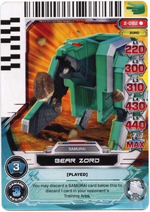 Power Rangers Action Card Game Guardians of Justice Single Card Rare 2-092 Bear Zord