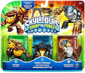 Skylanders SWAP FORCE Battle Pack Fiery Forge [Bumble Blast, Fiery Forge & Knockout Terrafin] BLOWOUT SALE!