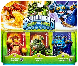 Skylanders SWAP FORCE Figure 3-Pack Lava Barf Eruptor, Slobber Tooth & Super Gulp Pop Fizz